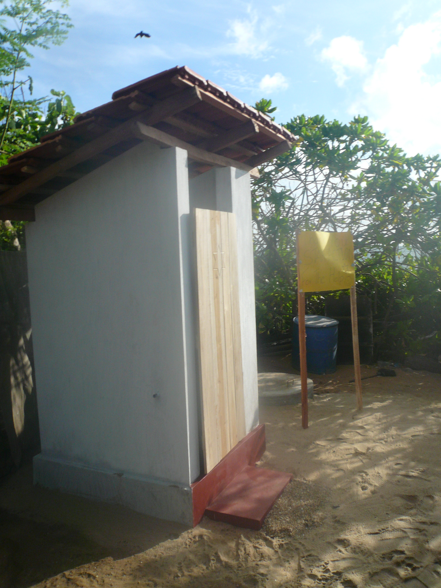A finished toilet
