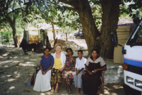 Jenny and three of the women who lost everything in the Tsunami