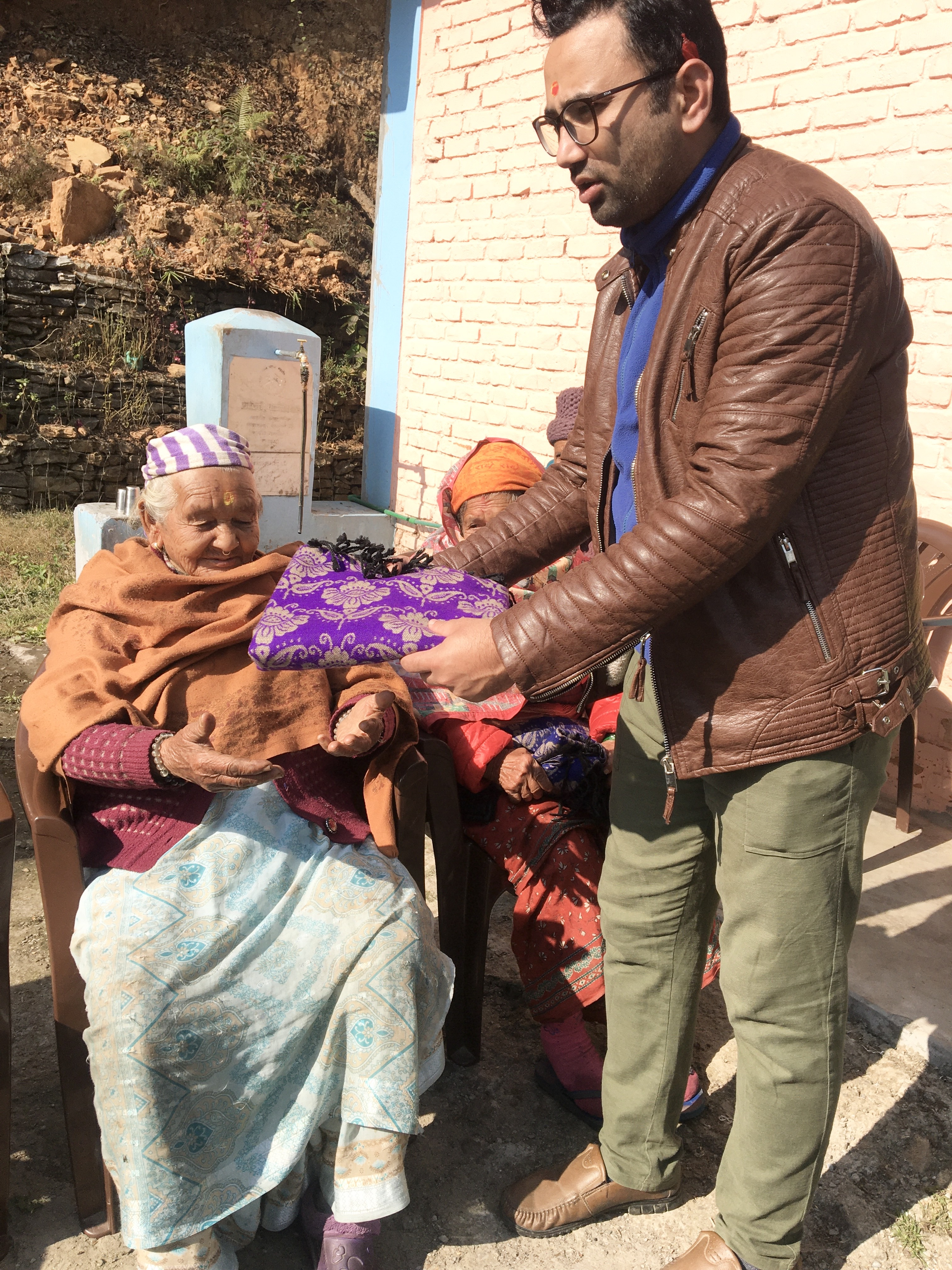 Christmas gift distribution program in Pokhara
