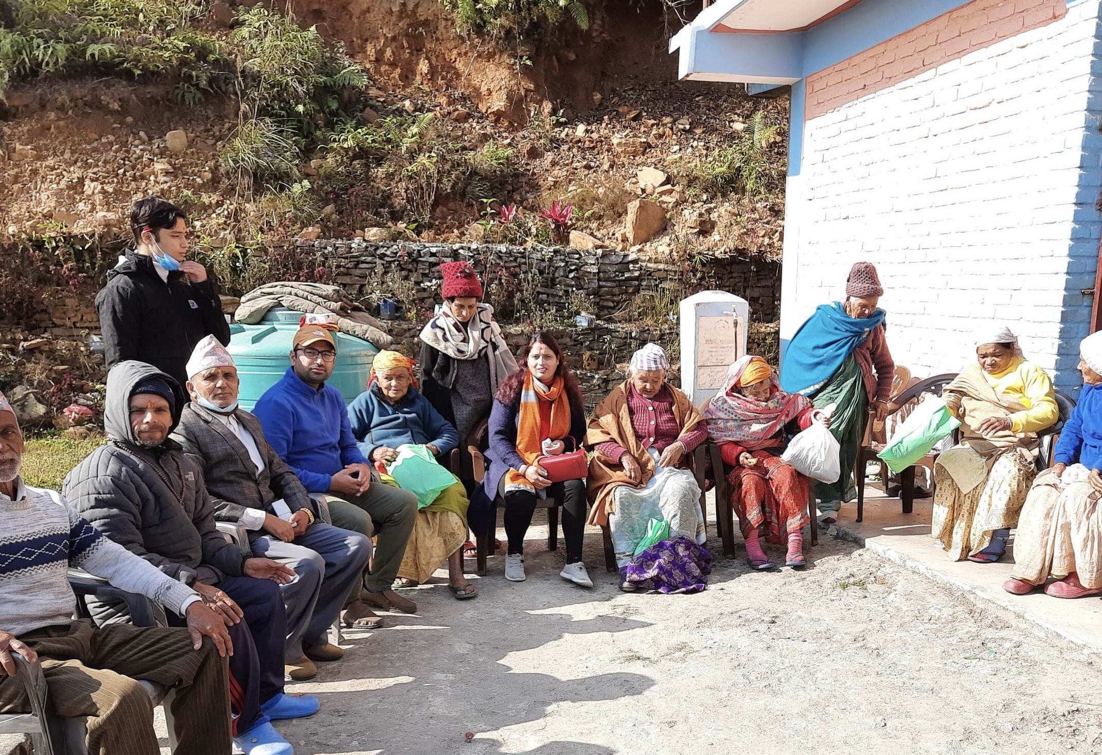 Christmas gift distribution program in Pokhara